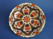 Unusual Royal Worcester Imari Pattern Cabinet Plate c1883